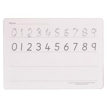 Write 'N' Wipe Boards, Number Formation - Rigid, A4, Pack of 5