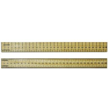 Rulers, Hardwood, Double Sided, 30cm, cm/0.5cm, Each