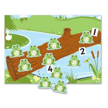 Number Rhymes Magnetic Board Game, 10 Little Speckled Frogs, Age 4+, Set