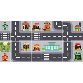 Robot Play Mats, Town, 125mm Robots, Each