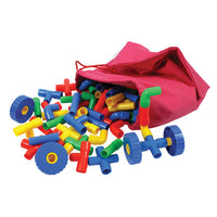Pipe Pieces With Wheels, Age 3+, Pack of 100 Pieces