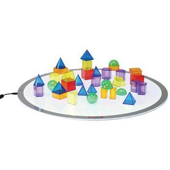 Translucent Geometric Shapes, Age 3+, Set of 36