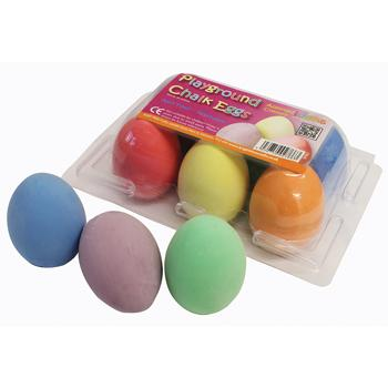 Chalk, Eggs, Age 3+, Pack of 6