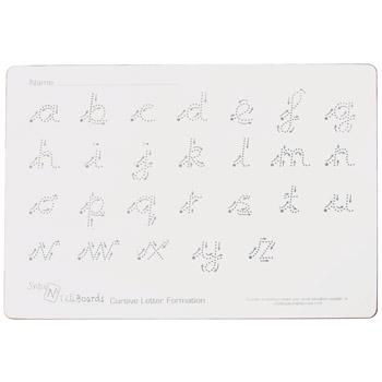 Write 'N' Wipe Boards, Cursive - Rigid, A4, Pack of 5