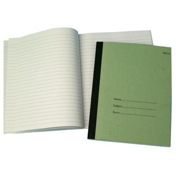 Teachers Notebook, 9 x 7'' (229 x 178mm), 128 Pages, Green, 8mm Ruled, Each