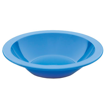 Polycarbonate Ware, Anti-Bacterial, Bowl, Narrow Rim, Blue, 170mm diameter, Each