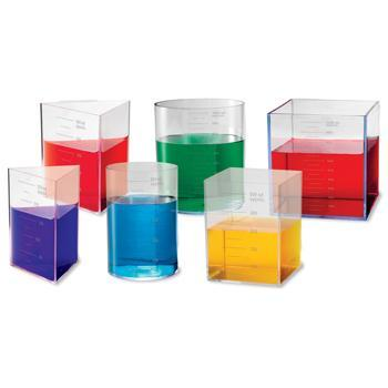 Litre Set, See Through Containers, Age 8+, Set of 6