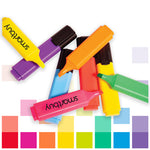 Highlighters, Smartbuy, Marker Style, 5 Assorted Colours, Assorted, Pack of 48