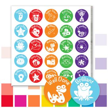 Economy Stickers, Assorted, Pack of 650 Stickers