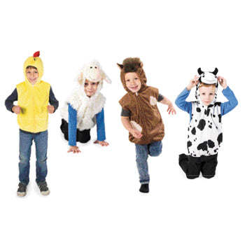 Dressing Up, Tabards, Zip Top Sets, Farmyard Zip Top Set, Set of 4