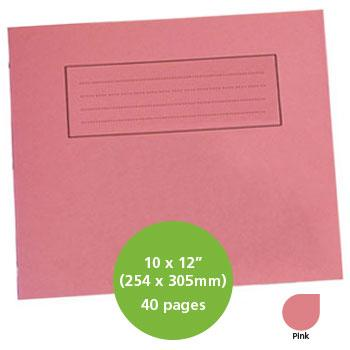Exercise Books, Manilla Covers, 10 x 12'' (254 x 305mm), 40 Pages