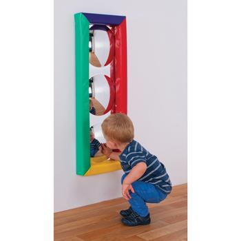 Multi-Colour 3 Bubble Soft Frame Sensory Mirror, Each
