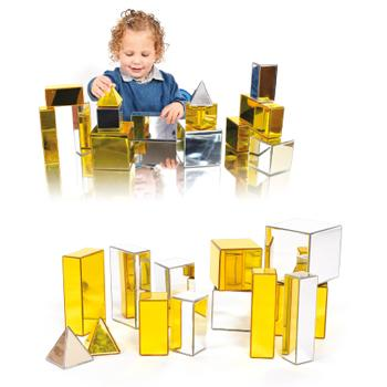 Metallic Building Blocks, Set of 14 Pieces