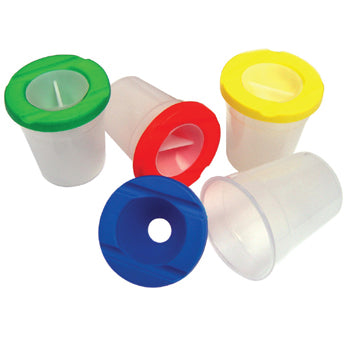 Non-Spill Pots, Pot and Lid, Pack of 6