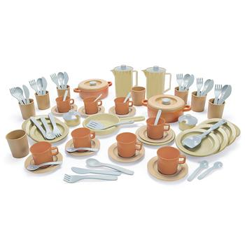 Bioplastic Range, Giant Dinner and Coffee Set, Age 2+, Set of 79 Pieces