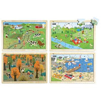 Nature Puzzles, Age 4+, Set of 4