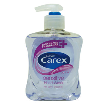 Hand Soaps - Pump Action, Cussons Carex, Sensitive, Case of 6 x 250ml