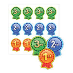 1st, 2nd & 3rd Place Rosette Stickers, Pack of 120