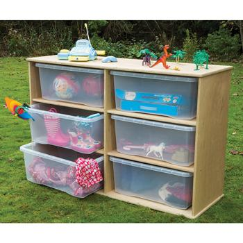 Duraplay Outdoor Range, Storage With 6 Clear Trays, Each