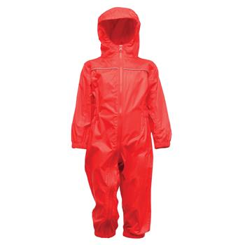 Child's Waterproof Rainsuit, Red