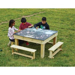 Chalkboard Table & Benches, Set