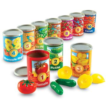 Counting and Sorting, Counting Cans, Age 3-7, Set