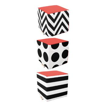 Black & White Range, Contrast Cubes, Set of 3