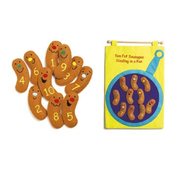 Counting, Ten Fat Sausages Chart, Age 3+, Each