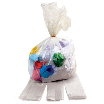 Refuse Sacks, Colours, 240 litres, Heavy Duty Clear, Box of 100