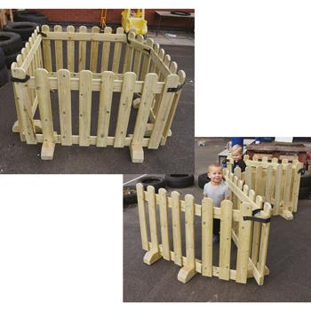 Room Divider With Gate, Set