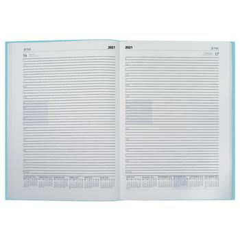 A5 Desk Diaries, ESPO, 18 Months, One Day to a Page, Sky Blue, Each