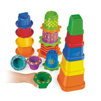 Build & Nest Sensory Stacker, Age 12 Mths+, Set of 16