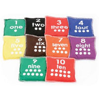 Bean Bags, Printed Numbers, Set of 10