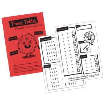 A5 Times Table Book, Pack of 30