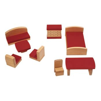 Dolls' House Furniture, Lounge & Bedroom, Age 2+, Each