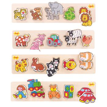 Chunky Lift & Match Puzzle Set, Age 2+, Set of 4
