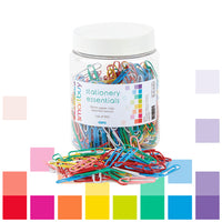 Smartbuy, Paper Clips, Assorted Colours, 33Mm, Tub of 500