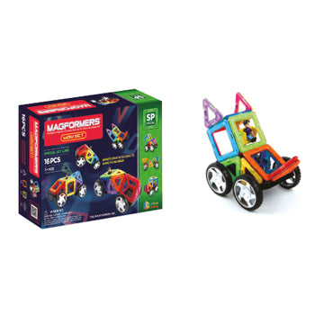 Magformers, 16 Piece Wow Set, Age 3+, Set of 16 Pieces
