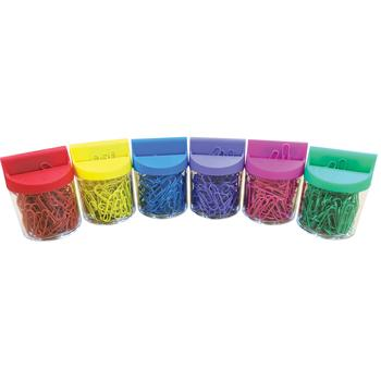 Paper Clips & Dispensers, Pack of 6