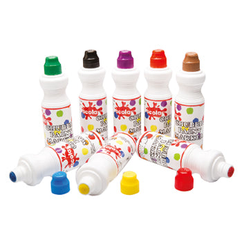 Chubbie Paint Markers, Bright, Pack of 8 x 75Ml