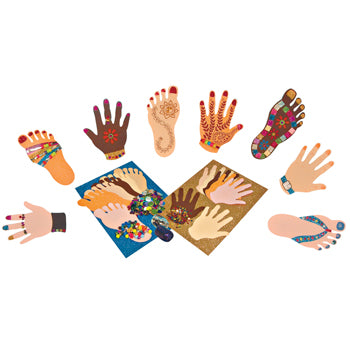 Paper Hands and Feet, Pack of 32