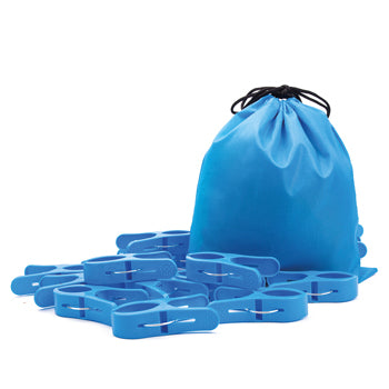 Large Pegs, Blue, Age 3+, Set of 20