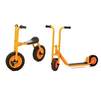 Play Vehicles Rabo, Bundle Deal, Two Wheeled Bike & Scooter, Age 3-7, Set of 2