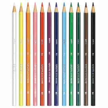Standard Hexagonal Coloured Pencils, Giotto Stilnovo, Individual Colours, Pack of 12