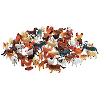 Toy Animals, Farm Animals, Ages 3+, Pack of 48