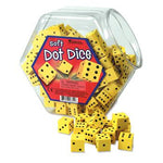 Foam Dice, Dots, 16mm, Set of 200