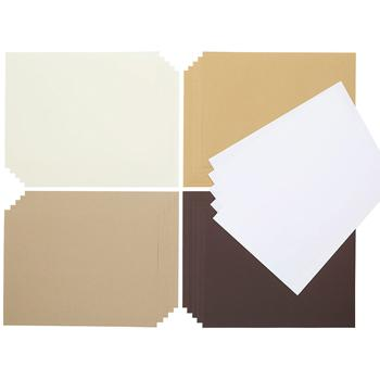 Poster Paper Sheets, Naturals Assorted, A4+, Pack of 100 Sheets