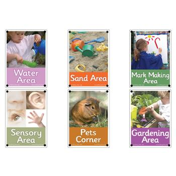 Area Signs, Set 2, Set of 6