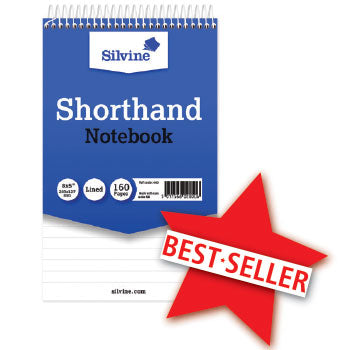 Shorthand Notebooks, Spiral Bound At Head, 203 x 127Mm, 160 Pages (80 Sheets), Pack of 10
