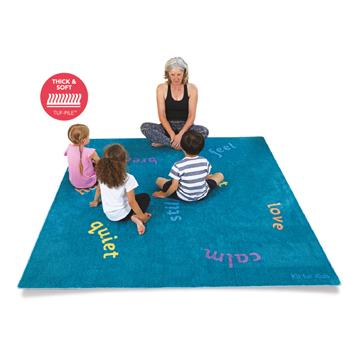 Kit For Kids Wellbeing Carpets, Mindfulness, 2000 x 2000mm, Each